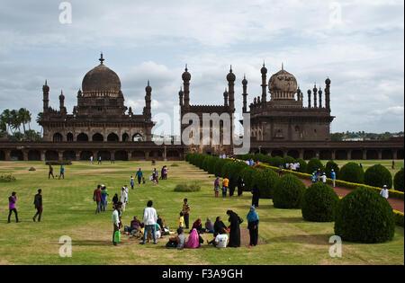 Mausoleum of Ibrahim Roza ( India) - Stock Photo