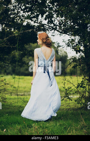 Beautiful ginger historical girl - Stock Photo