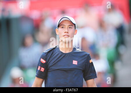 Kei Nishikori (JPN), OCTOBER 3, 2015 Tennis : Training of