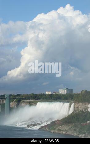 American Falls. View from Niagara Falls, Ontario, Canada. - Stock Photo