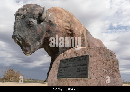 World's Largest Buffalo in Jamestown, North Dakota - Stock Photo
