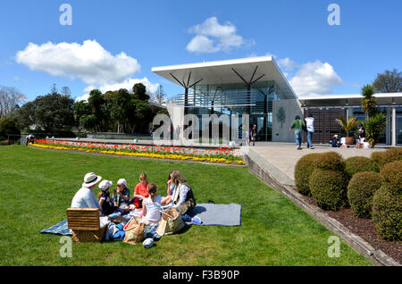 AUCKLAND,  NZL -  OCT 01 2015: Visitors having picnic at Auckland Botanic Gardens. It opened to the public in 1982 - Stock Photo