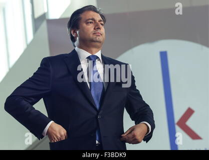 Moscow, Russia. 3rd Oct, 2015. ENKA TC General Director Murat Duran attends the opening of the Kuntsevo Plaza multifunctional - Stock Photo
