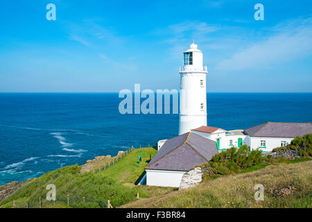The lighthouse at Trevose head near Padstow in Cornwall, England, UK - Stock Photo