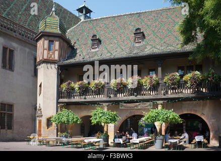 Koifhus or Old Customs House now wine domain Place de L'Ancienne Douane Colmar Alsace France - Stock Photo