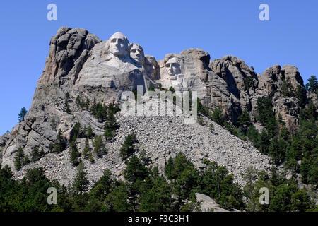 Mount Rushmore National Monument near Keystone, South Dakota - Stock Photo