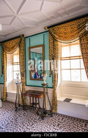 An 18th Century sitting room in Kew Palace, Kew Gardens, London, UK - Stock Photo