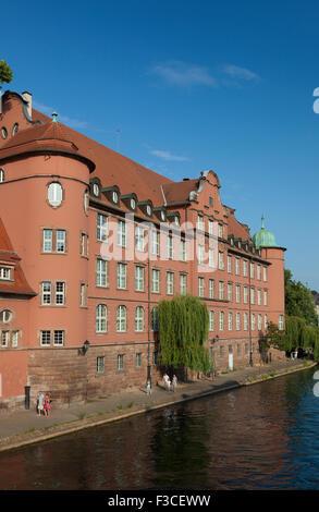 Saint Thomas school, Strasbourg, Bas-Rhin, Alsace, France - Stock Photo