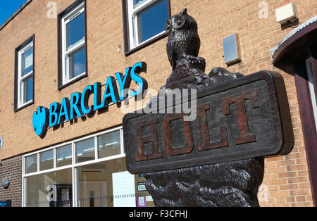 barclays bank in holt, north norfolk, england - Stock Photo