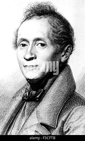 JOSEPH von EICHENDORFF (1788-1857) German poet and novelist - Stock Photo