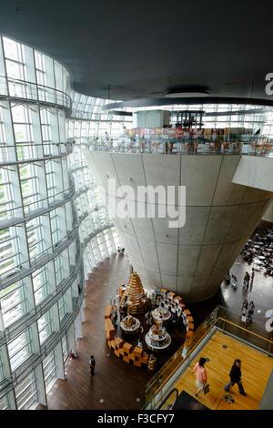 Interior of National Art Center Tokyo Japan - Stock Photo