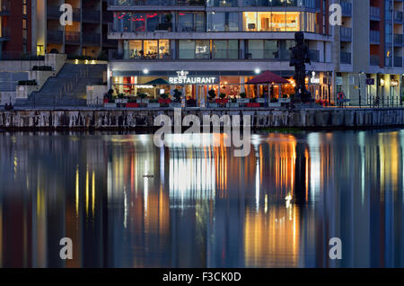 Restaurant, Royal Victoria Dock, London Borough of Newham, London E16, United Kingdom - Stock Photo
