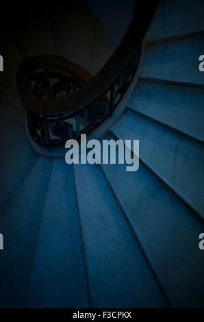 Spiral staircase, viewed from directly above - Stock Photo