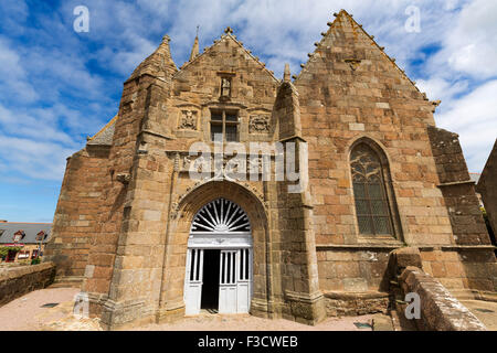 Chapelle Notre Dame de la Clarte at Perros Guirec French Brittany France Europe - Stock Photo