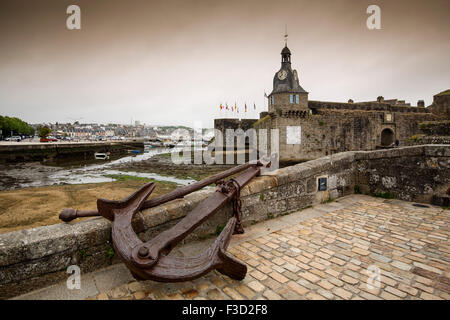 Concarneau Ville Close Finisterre French Brittany France Europe - Stock Photo