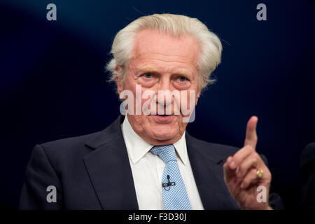 Manchester, UK. 5th October 2015. Michael Heseltine speaks at Day 2 of the 2015 Conservative Party Conference in - Stock Photo