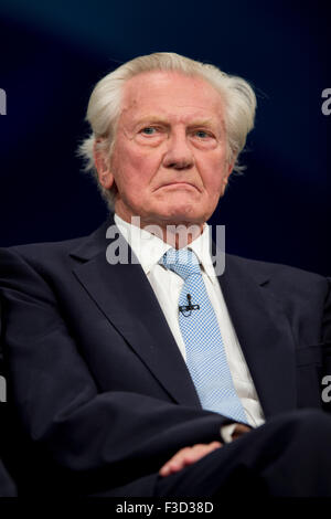 Manchester, UK. 5th October 2015. Michael Heseltine attends the Day 2 of the 2015 Conservative Party Conference - Stock Photo