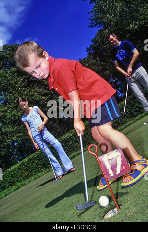 Putting at Jubilee Park. Woodhall Spa. Lincolnshire. England. UK - Stock Photo