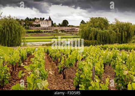Wine cellars Chateau Lafite Rothschild Medoc vineyards Bordeaux Gironde Aquitaine France Europe - Stock Photo