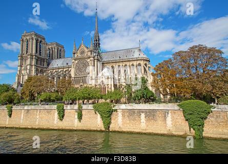 Famous Notre Dame in Paris, France - Stock Photo
