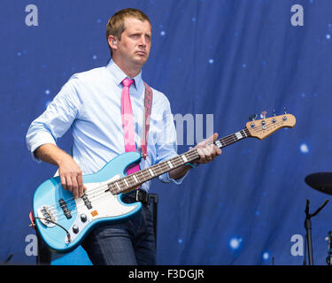 Austin, Texas, USA. 4th Oct, 2015. Bassist NATE QUERY of The Decemberists performs live at the Austin City Limits - Stock Photo