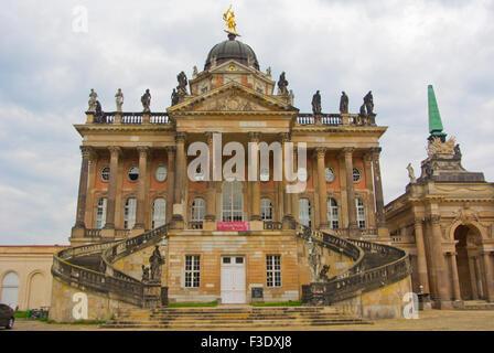 Commons, used as University buildings, Neues Palais, new Palace, Park Sanssouci, Potsdam, near Berlin, Germany - Stock Photo