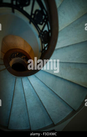 Spiral staircase, overhead view - Stock Photo