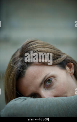 Mature woman, portrait - Stock Photo