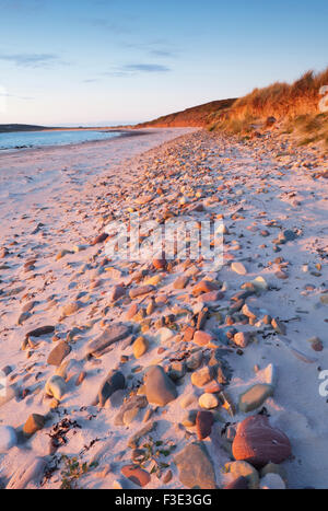 The Sands of Mussetter at sunset on the island of Eday, Orkney Islands, Scotland. - Stock Photo