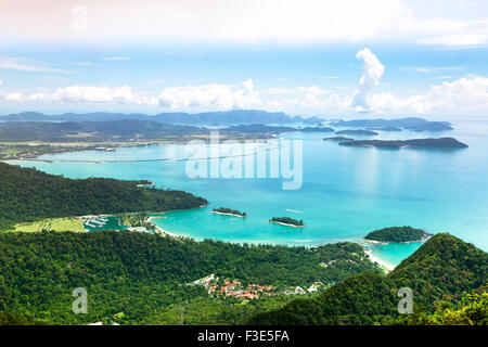 View of Langkawi island from observation deck. Malaysia. - Stock Photo