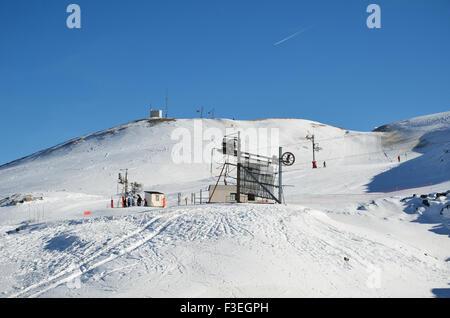 French ski resort Pierre Saint Martin - Stock Photo