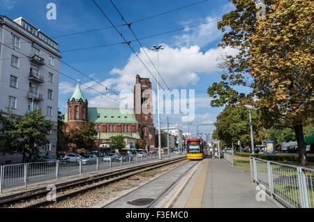 Roman Catholic church of the Immaculate Conception of the Blessed Virgin Mary, Warsaw, Poland - Stock Photo