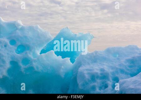 Icebergs in the glacier lagoon Jökulsarlon, Iceland, Europe - Stock Photo