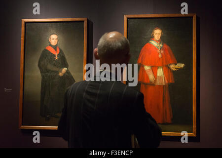London, England. 06/10/2015. Press preview of the exhibition Goya: The Portraits at The National Gallery in London, - Stock Photo