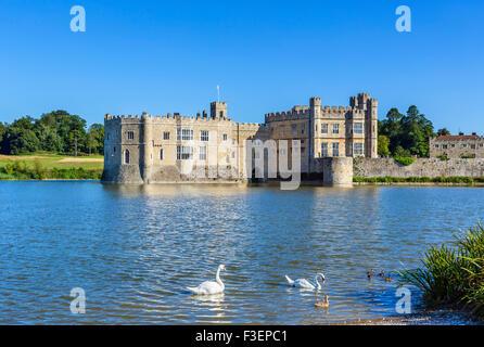 Leeds Castle, near Maidstone, Kent, England, UK - Stock Photo