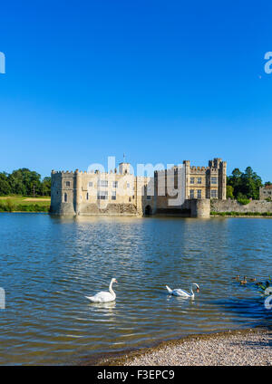 Leeds Castle, near Maidstone, Kent, England, UK - Stock Photo