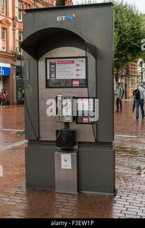 New Style BT telephone box in Reading Berkshire - Stock Photo
