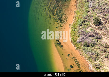 Aerial view of Colorado River, abstract natural background, Horseshoe Bend in Arizona, USA. - Stock Photo