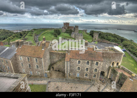 dover castle medieval castle in Dover, Kent. - Stock Photo