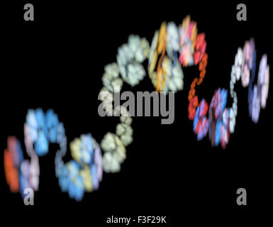 Computer rendered 3d abstract fractal illustration background for creative design - Stock Photo