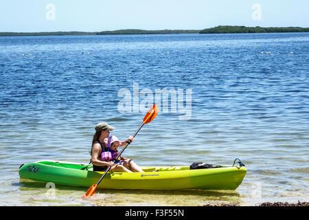 Florida, FL, South, Keys, Key Largo, John Pennekamp Coral Reef State Park, Largo Sound, Atlantic Ocean, adult adults - Stock Photo