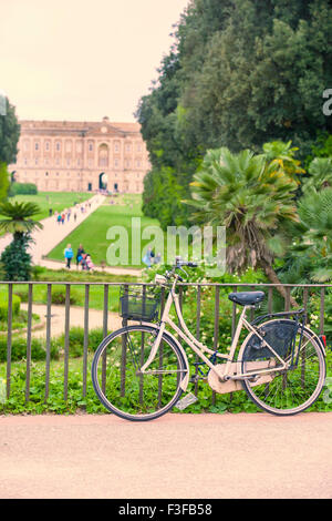 Rental Bicycle in Caserta Royal Palace, Italy - Stock Photo