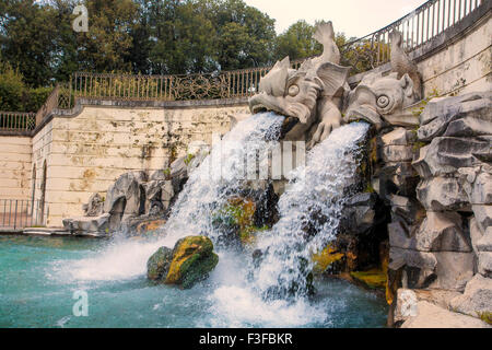 Fountain in Caserta Royal Palace in Caserta, Italy - Stock Photo