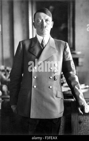 ADOLF HITLER (1889-1945) German Nazi leader in 1938 - Stock Photo