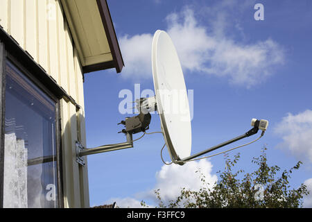 Dish Antenna attached and supported PR#703L - Stock Photo