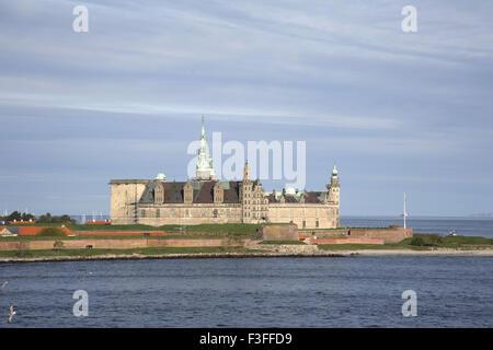 Kronborg castle exterior view UNESCO's World Heritage ; Helsingor ; Denmark Scandinavia - Stock Photo