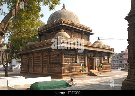 Heritage stone Rani Sipri's tomb ; Ahmedabad ; Gujarat ; India - Stock Photo