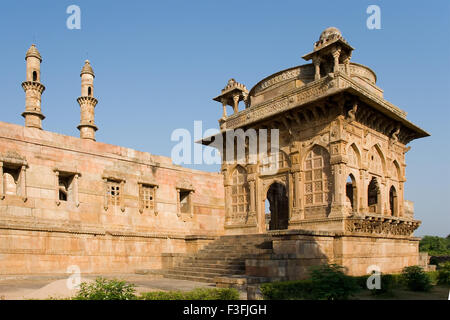 Champaner Pavagadh 15th century ruler Mahmud Begda ; Jami Masjid complex ; Archaeological park ; Champaner Gujarat - Stock Photo