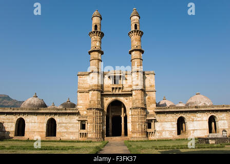 Champaner Pavagadh 15th century ruler Mahmud Begda Jami Masjid complex Archaeological park Champaner Gujarat - Stock Photo