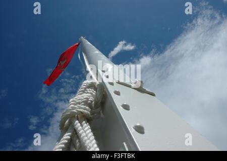 Isle of Man Flagpole - Stock Photo